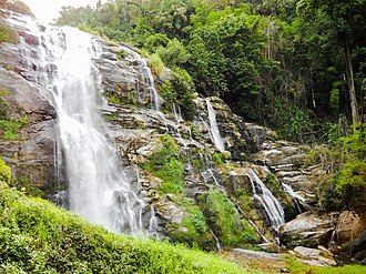 Doi Inthanon National Park - The Wachirathan Waterfall, Doi Inthanon National Park, the highest point in Thailand