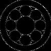 「九曜紋」と「丸に九曜紋」