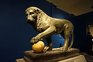 Medici lions - The Albani lion, a similar ancient sculpture, now at the Louvre