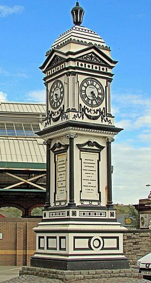 Holyhead - Clock Tower commemorating the extension of the Holyhead Docks between 1875 and 1880