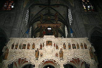 Rood screen - The rood screen of Charles V in the St Maternus Basilica of Walcourt, Belgium