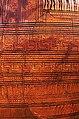 02 2020 Grecia photo Paolo Villa FO190065 bis (Museo archeologico di Atene) Terracotta dipinta, Anfora del Maestro detto di Dipylon (dettaglio), opera funebre geometrica con salma su catafalco, piangenti, Kerameikos Atene, VIII sec a.C.jpg