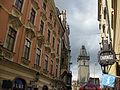038 Celetná Ulice, casa Sixt i torre de l'Ajuntament.jpg