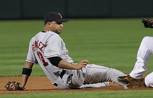 Álex González (infielder, born 1977) - González during his tenure with the Boston Red Sox in 2006