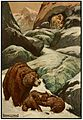 10 She put her good steed to the walls the leapt lightly over them - Russian Fairy Book 1916, illustrator Frank C Pape.jpg
