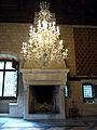 122 Castell de Santa Florentina (Canet de Mar), menjador reial, llum i llar de foc.JPG