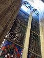 125 Monestir de Sant Cugat, vitrall des del claustre superior.JPG