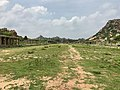 15th-16th century Ruins of market and shops road facing Achyutaraya temple, Hampi Hindu monuments Karnataka.jpg