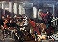 1610 Cecco del Caravaggio Christ expulses money changers anagoria.JPG