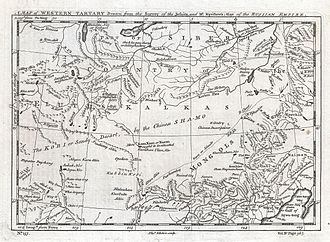 Mongolia under Qing rule - Mongolia in the map of 1747