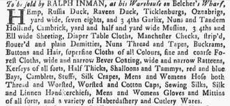 Ralph Inman - Image: 1747 Ralph Inman Boston Eveing Post April 6