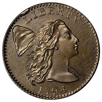 Large cent - A 1794 large cent