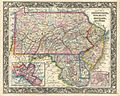 1863 Mitchell Map of Pennsylvania, New Jersey, Delaware and Maryland - Geographicus - PNNJMD-mitchell-1863.jpg