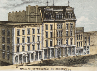 The Republican (Springfield, Massachusetts) - Image: 1875 Springfield Massachusetts by Bailey BPL 10183 map detail