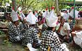 18 Baris Poleng dancers resting before.JPG