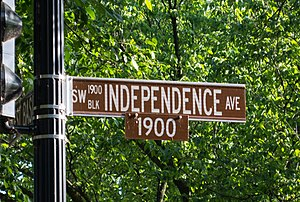 Independence Avenue (Washington, D.C.) - Street sign at 1900 Independence Avenue SW