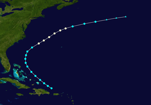 1903 Atlantic hurricane season - Image: 1903 Atlantic hurricane 1 track