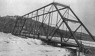 Callicoon Bridge - Image: 1904 photo of old Callicoon Bridge