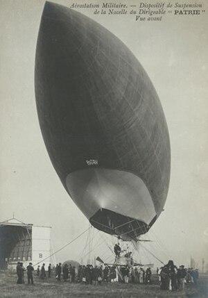 Patrie (airship) - The Patrie in Moisson, 1906