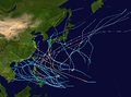 1949 Pacific typhoon season summary map.png
