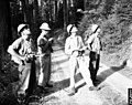 1958. Douglas-fir beetle survey crew. L-R Ken Wright, Paul Buffam, Leon Pettinger and Ernie Pearson. Umpqua National Forest, Oregon. (35124652946).jpg