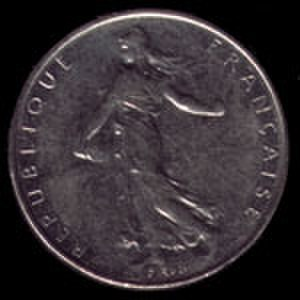 Franc - 1 French franc 1991 coin obverse