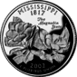 Mississippi quarter dollar coin