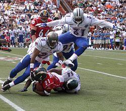 O futebol americano � um dos esportes mais populares no pa�s.