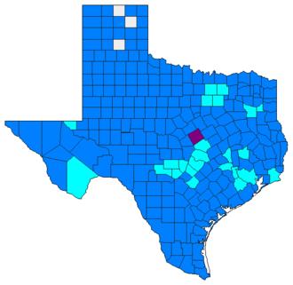 Texas Democratic primary and caucuses, 2008 - Image: 2008TXdemprimary