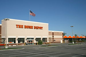 Knightdale, North Carolina - Home Depot hardware store on US 64 in Knightdale