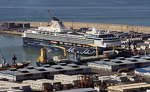 2010-12-14 Morocco Agadir port cruise ship Mein Schiff 1.JPG