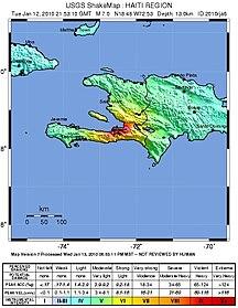 Ouest (Haiti)--2010 haiti shake map
