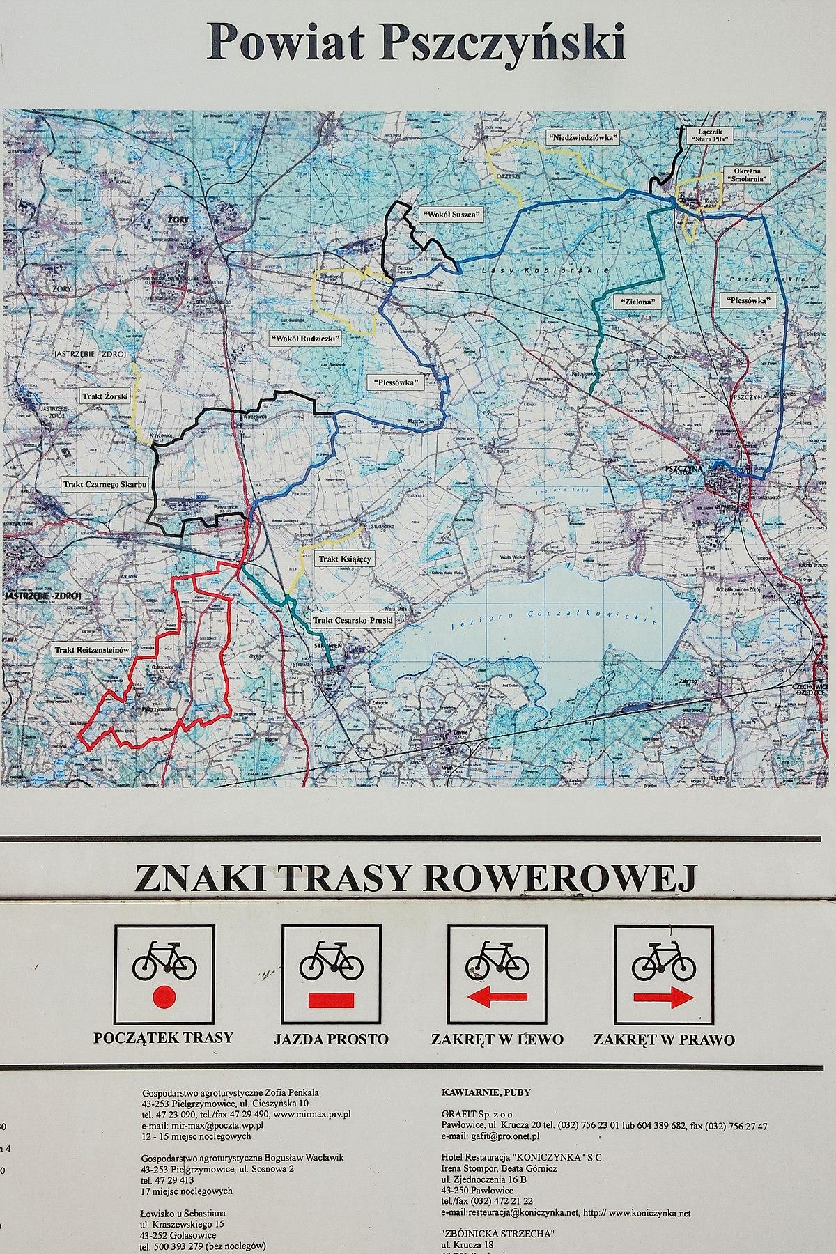 File 2012 Powiat Pszczynski Pawlowice Mapa Szlakow Rowerowych