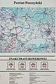 2012 Powiat pszczyński, Pawłowice, Mapa szlaków rowerowych (04).jpg