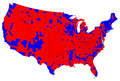 2012 US Presidential Election Results by Counties.png