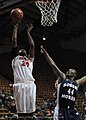 2013 Virginia Tech - Robert Morris - Nia Evans shooting with 44 defending.jpg