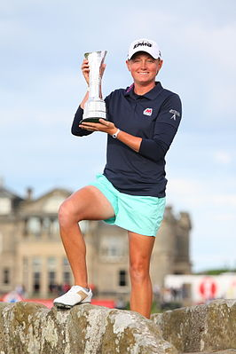 Lewis als winnares op het Women's British Open in 2013