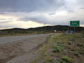 2014-07-18 19 28 44 View east along U.S. Route 6 about 31.5 miles east of the Nye County Line at Murry Summit, Nevada.JPG