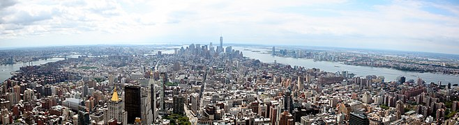 d29ee539aabe5 Panorama en direction du sud de Manhattan.