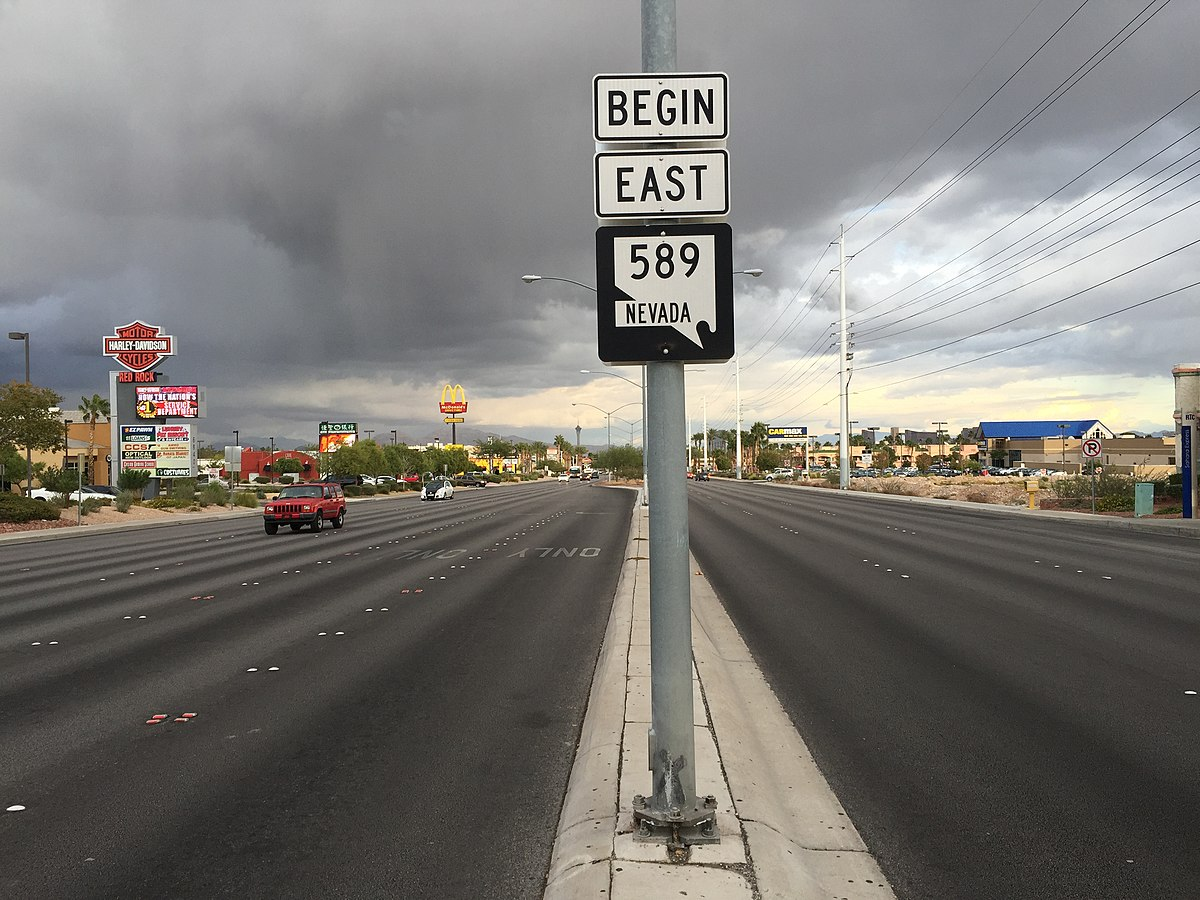 Px View East From The West End Of Nevada State Route Sahara Avenue In Las Vegas C Nevada