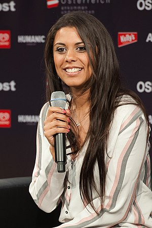 Switzerland in the Eurovision Song Contest 2015 - Mélanie René at a press meet and greet