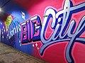 2015 191st Street IRT station tunnel Bright Lights Big City.jpg