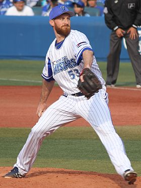 20170320 Spencer Burdette Patton pitcher of the Yokohama DeNA BayStars, at Yokohama Stadium.jpg