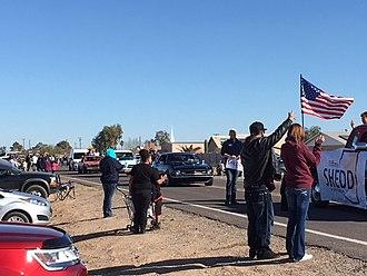 Arizona City, Arizona - The classic car portion of the 2018 Arizona City Daze parade.