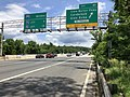 2019-05-27 12 14 06 View north along the inner loop of the Capital Beltway (Interstate 495) at Exit 41 (Clara Barton Parkway, Carderock, Glen Echo) on the edge of Potomac and Cabin John in Montgomery County, Maryland.jpg