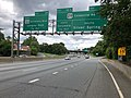 2019-05-27 12 42 49 View east along the inner loop of the Capital Beltway (Interstate 495) at Exit 30B (U.S. Route 29 South-Colesville Road, Silver Spring) on the edge of Four Corners and Silver Spring in Montgomery County, Maryland.jpg