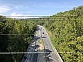 2019-09-11 15 15 54 View northwest along the Cabin John Parkway (Interstate 495X) from the overpass for MacArthur Boulevard on the edge of Cabin John and Bethesda in Montgomery County, Maryland.jpg