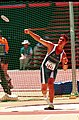 261000 - Athletics field discus F38 Brian Harvey bronze action - 3b - 2000 Sydney event photo.jpg