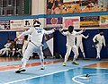 2nd Leonidas Pirgos Fencing Tournament. On the left the fencer Georgios Tasssis.jpg