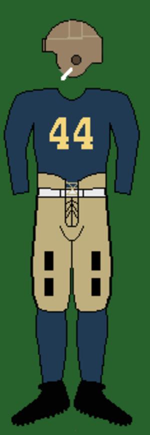 1931 Michigan Wolverines football team - Image: 30smichiganuniform